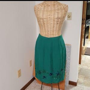 High Waisted Silk Skirt Casual Corner size 10/12